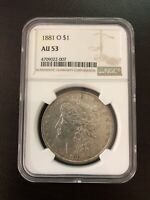 1881-O MORGAN DOLLAR NGC AU 53