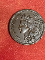 1902 INDIAN HEAD CENT PENNY SHARP LIBERTY AND DIAMONDS  ALMOST UNCIRCULATED