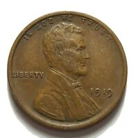 1919 LINCOLN WHEAT CENT. 1919 LINCOLN WHEAT COPPER PENNY. CIRCULATED