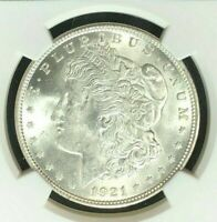 1921 MORGAN SILVER DOLLAR  NGC MINT STATE 63 BEAUTIFUL COIN REF25-027