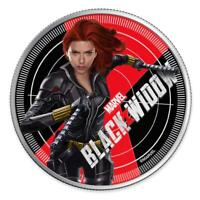 2020 FIJI $1 MARVEL AVENGERS BLACK WIDOW 1 OZ 999 SILVER PROOF COIN   2 500 MADE