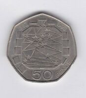 1992 1993 EEC 50 PENCE COIN IN NEAR MINT CONDITION