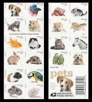 MINT US 5125A FOREVER STAMPS. PETS 2016 MNH BOOKLET OF 20