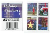 MINT USPS FOREVER STAMPS. HOLIDAY WINDOWS. CHRISTMAS. 2016. BLOCK OF 4