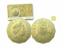 2020 AUSTRALIAN 50C FIFTY CENT M PRIVY MARK GOLD PLATED ANDA