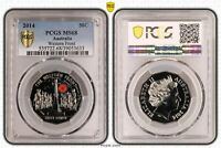 2014 AUSTRALIA FIFTY CENT 50C WESTERN FRONT PCGS   MS68  633