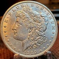 1900 P MORGAN SILVER DOLLAR   GEM BU WHITE LUSTROUS UNCIRCULATED  MS