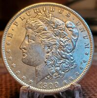 1900 P MORGAN SILVER DOLLAR     PQ UNCIRCULATED WHITE GEM MS