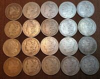 1 ROLL  20 MORGAN SILVER DOLLARS PRE- 1900 GOOD TO AU  SALE 1879 TO 1899