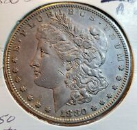 1880 S MORGAN SILVER DOLLAR AU $45