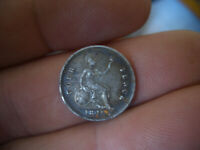 SILVER VICTORIAN GROAT  COIN  DATED 1849 GOOD GRADE FRESH TO