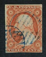 CKSTAMPS: US STAMPS COLLECTION SCOTT10 3C WASHINGTON USED