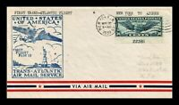 DR JIM STAMPS US NEW YORK FAM 18 FIRST FLIGHT AIR MAIL COVER