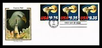 DR JIM STAMPS US EXPRESS MAIL EAGLE HIGH VALUE SILK FDC UNSE