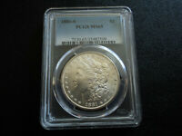1881S MORGAN $1.00 90 SILVER DOLLAR COIN GRADED PCGS MINT STATE 65