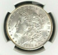1885-O MORGAN SILVER DOLLAR  NGC MINT STATE 63 BEAUTIFUL AMAZING REV TONE REF10-076