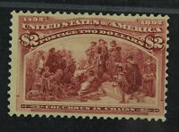 CKSTAMPS: US STAMPS COLLECTION SCOTT242 $2 COLUMBIAN UNUSED