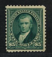 CKSTAMPS: US STAMPS COLLECTION SCOTT263 $5 MINT H OG LIGHT G