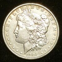 1902 $1 MORGAN SILVER DOLLAR  EXTRA FINE  CLEANED