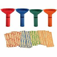 EASY WRAP COIN STACKING TUBES WITH 252 COIN WRAPPERS - FUNNEL SHAPED COLOR
