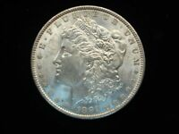 1891 MORGAN DOLLAR - BETTER DATE WITH LOTS OF EYE APPEAL -SATIN SURFACES
