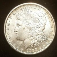 1888 MORGAN SILVER DOLLAR UNC, BUT WITH A DULL REVERSE