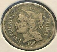 1868 NICKEL THREE CENT PIECE 508