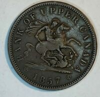 1857 CANADA BANK OF MONTREAL PENNY TOKEN   PROVINCE OF CANAD