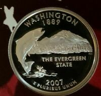 2007 S WASHINGTON PROOF 90  SILVER QUARTER FROM SILVER PROOF