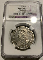 1829 CAPPED BUST HALF DOLLAR NGC VF DETAILS SCRATCHES - SHIPS FREE
