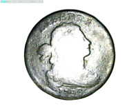 1798 LARGE CENT DRAPED BUST  16-326 9M/O