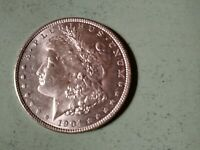 1904-O MORGAN SILVER DOLLAR AU-BU BEAUTIFUL COIN EYE POPPING LUSTER