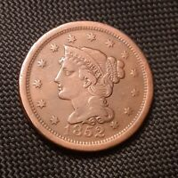 1852 BRAIDED HAIR LARGE CENT - FINE F