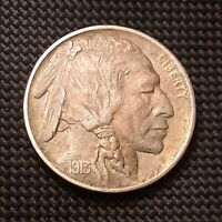 1913 P TYPE II, T2, TYPE TWO, BUFFALO NICKEL - AU, 30 ROTATED REVERSE
