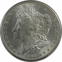 1889-S MORGAN SILVER DOLLAR $1 PCGS MINT STATE 65