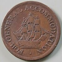 AM 1A4  CANADA CANADIAN COLONIAL 1/2 PENNY TOKEN   FOR GENER