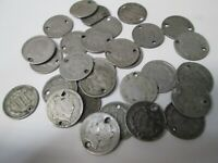 LOT OF 30 US 3 CENT III NICKEL COIN PARTIAL DATES