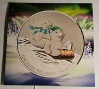 ROYAL CANADIAN MINT 2016 WINTER SLEIGH RIDE $25 FINE SILVER