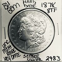 1878 8TF BU GEM MORGAN SILVER DOLLAR UNC MS   U.S. MINT  KEY