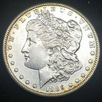 1889-S MORGAN SILVER DOLLAR EXTRA FINE -AU SHARP DETAIL BUT IT IS CLEANED