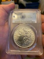 1885 PHILADELPHIA SILVER DOLLAR COIN PCGS UNC DETAILS CLEANED GENUINE US USA