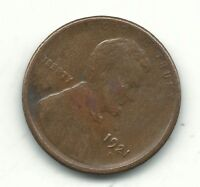 FINE CONDITION 1921 S LINCOLN CENT COIN-OLD US COIN-OCT339