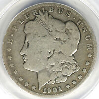 1901-S $1 MORGAN DOLLAR ANACS VG8 DETAILS CLEANED