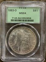 1883 O MORGAN SILVER DOLLAR PGCS MINT STATE 64