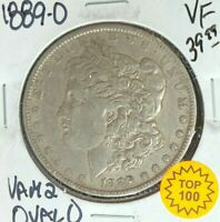 1889-O MORGAN SILVER DOLLAR  VF  VAM 2 OVAL