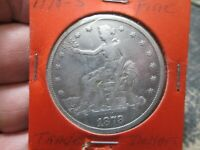 1878 S SEATED TRADE SILVER DOLLAR IN FINE CONDITION