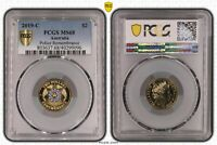 2019 C AUSTRALIA TWO DOLLAR $2 POLICE REMEMBRANCE PCGS   MS6