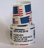 US FLAG FOREVER COIL OF 100 POSTAGE STAMPS STAMP DESIGN MAY VARY  SEALED  NEW