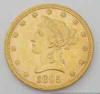 1895 $10 LIBERTY HEAD EAGLE US GOLD COIN MINT STATE 61