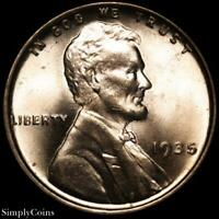 1935 LINCOLN WHEAT CENT CENT  BU UNCIRCULATED RED  SKU-3829